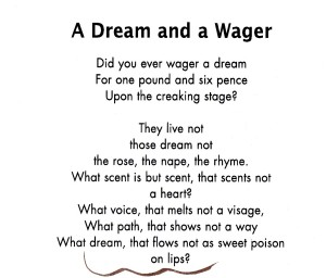 A Dream and a Wager