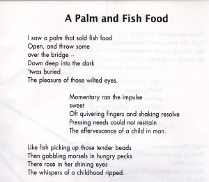 A Palm and Fish Food
