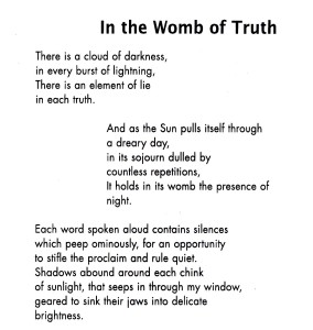 In the Womb of Truth