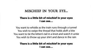 Mischief in Your Eye
