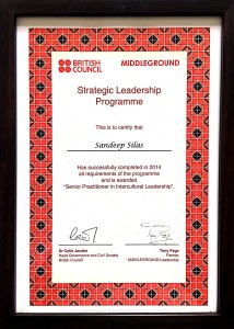 First-ever Intercultural Leadership Award 2014 by British Council UK-India