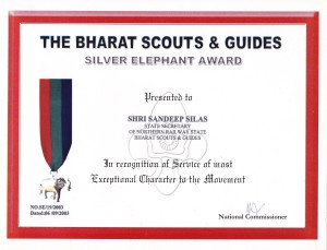 Silver Elephant Award conferred by H. E. President of India Mr. A. P. J. Kalam 2003