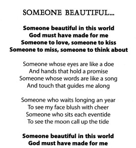 Someone Beautiful...